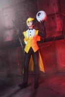 Gravity falls - Bill Cipher cosplay - 3 by Dokura-chan