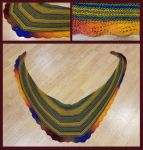 Lovely leaf shawl - autumn by KnitLizzy