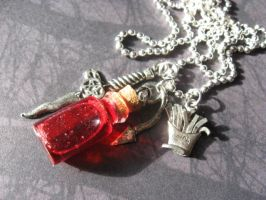 Supernatural Ruby Necklace by SpellsNSpooks