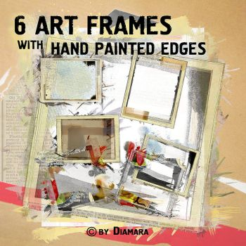 ArtFrames with Painted Edges by Diamara
