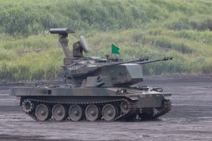 Type 87 self-propelled anti-aircraft gun by DDmurasame