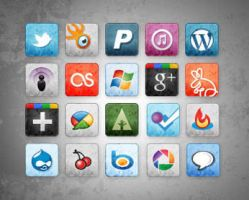 stained social media icons by socialbeaker