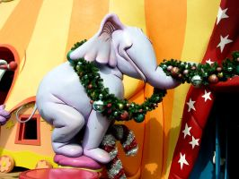 Elephant with Garland by FairieGoodMother
