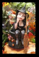 Nettie Nettle Root Witch OOAK by gossamerfae