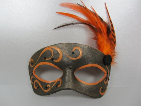 Halloween colors masquerade mask by maskedzone