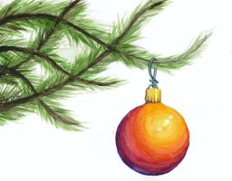 Christmas Card - Ornament by TalynDraconmore