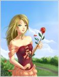 .:Girl with a rose:. by Aniel-AK