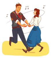 Oh, come dance with me Mr. DeWitt! by Bloody-Idiot