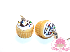 Colorful Sprinkles Cupcake Earrings by Metterschlingel