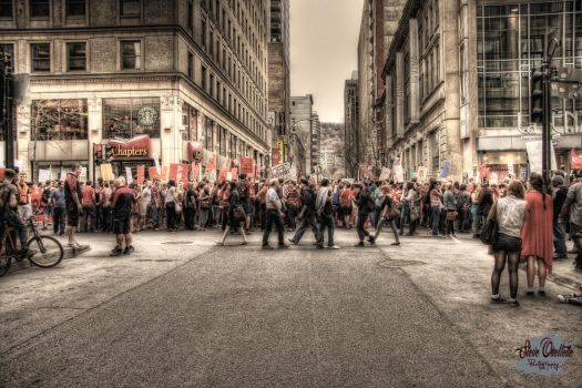 Students protest in Montreal by ESTIOS