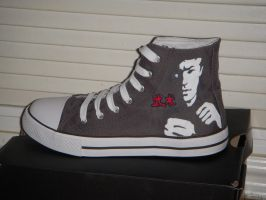 Bruce Lee shoes by VespaChis