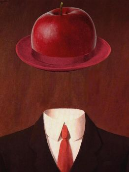 Magritte applehat by pedroluispalencia