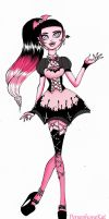 Draculaura- Pastel Goth Style by PersephoneKat