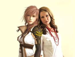 Lightning and Ali Hillis by SerenaKaori87