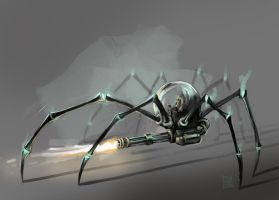 Mecha-Arachnoid by sebtuch