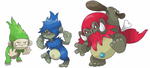 Trobble, Trully and Mogre by dodecagon