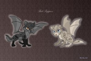 [Closed] Adoptables: Bat Puppies by MySweetQueen