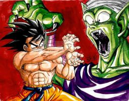 Piccolo Vs Goku by BK-81