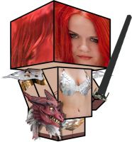 Cubee - Alisa as Red Sonja by 7ater