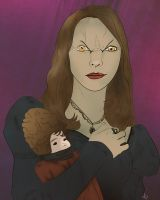Miss Edith and Drusilla by jackcrowder