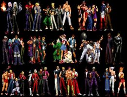 kof memorial chars by master232