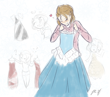 Prepping for Yule Ball (Date Status) by Everluffen