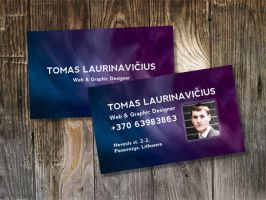 Space-Themed Business Card by T-Law
