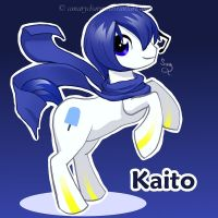 Vocaloid Pony: Kaito by canarycharm