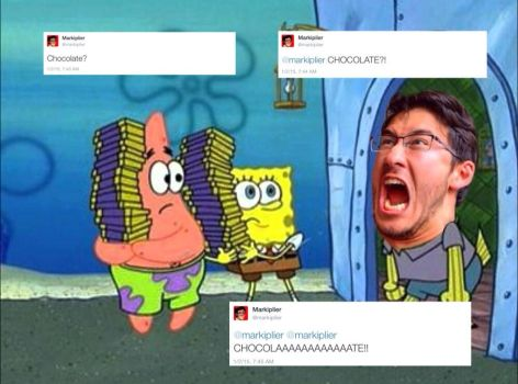 Mark Watches Too Much Spongebob by RawritsCarol