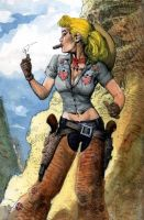 Jenny Sparks as cowgirl by LiamSharp