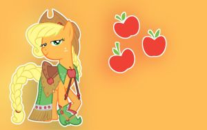 Applejack Wallpaper by CandyUtame