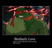 Mikey hugging Raph by 1980supra