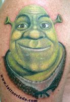 cartoon shrek by tattootocka