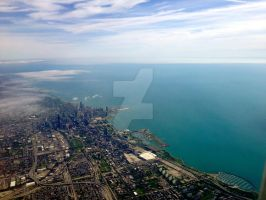 Chicago from Above! by TheIndigoWolf