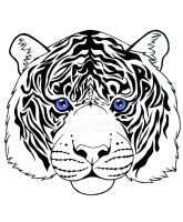 Blue Eyes White Tiger by HDevers