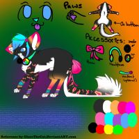 New BlossomTehKittehKat Character Reference! by GlaceTheCat