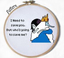 Marceline and Ice King from I remember you PATTERN by JuliefooDesigns