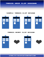 TARDIS Hair Clip Designs by starlite-decay