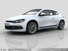 VW Scirocco - Rendering WIP 1 by shilpinator