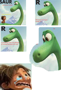 good dinosaur gone savage by DaGlowstoneBoss9