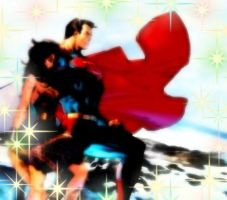 Diana and SuperMan by HopeLope