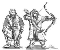 Fili and Kili Sketches by NiJole-teh-drac