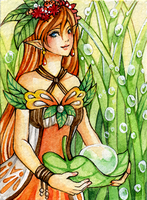 ACEO No.76 - Morning Dew by Hachiyo