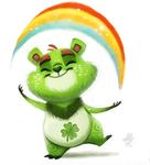 Daily Paint #665 - Stalliiiing by Cryptid-Creations