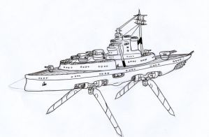 Luthatiantion Sky Crusier by Angryspacecrab