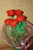 Kawasaki Rose bouquet for my grandma 1 by Kusu-dama