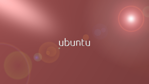 Ubuntu red , aluminium logo wide by Ivanmladenovi