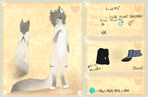 Lumi Ref Sheet by XBlackIce
