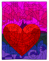 Pink and Purple Love by Lelanie