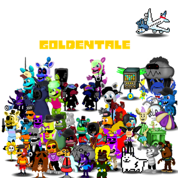 Goldentale Poster by WitheredChica125